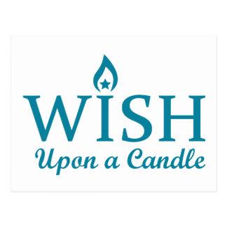 蝋燭に願い ポストカード
