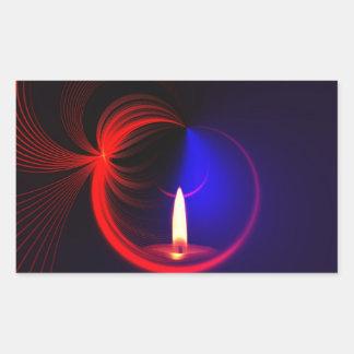 蝋燭のイメージのファッション 長方形シール