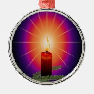蝋燭のイメージ メタルオーナメント
