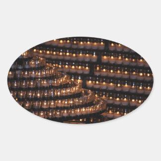 蝋燭のステッカー 卵形シールステッカー