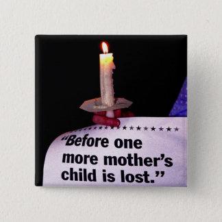 蝋燭の抗議 5.1CM 正方形バッジ