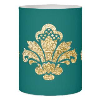 蝋燭の模造のな金ゴールドのダマスク織TEAL/Tealを結婚するLED LEDキャンドル