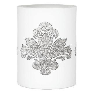 蝋燭の模造のな銀製のダマスク織の黒か白を結婚するLED LEDキャンドル