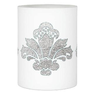 蝋燭の模造のな銀製のダマスク織TEAL/Whiteを結婚するLED LEDキャンドル
