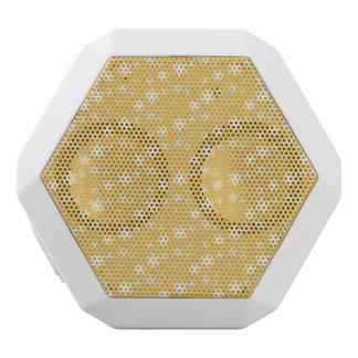 蝋燭の白熱黄色および白い雪突風 ホワイトBluetoothスピーカー