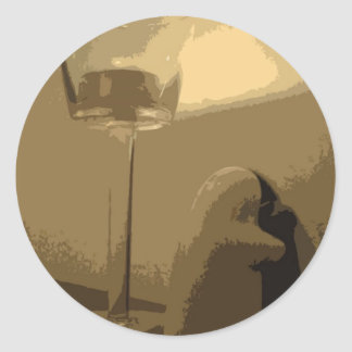 蝋燭の軽いステッカー ラウンドシール
