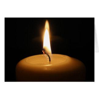 蝋燭の非常に熱い挨拶状 カード
