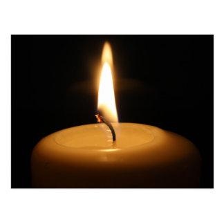 蝋燭の非常に熱い郵便はがき ポストカード