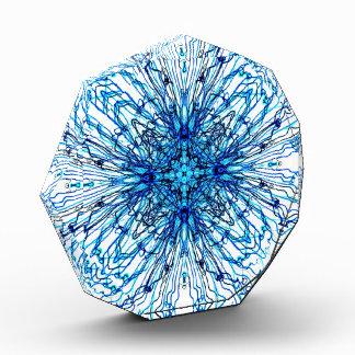蝋燭のSheildの電気青い曼荼羅 表彰盾