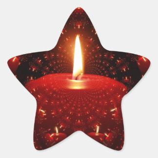 蝋燭をつけて下さい 星形シールステッカー