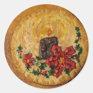 蝋燭パイ 丸型シール