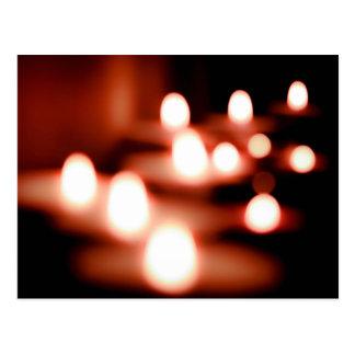 蝋燭ライト はがき