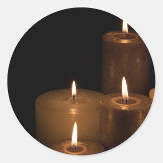 蝋燭ライト ラウンドシール