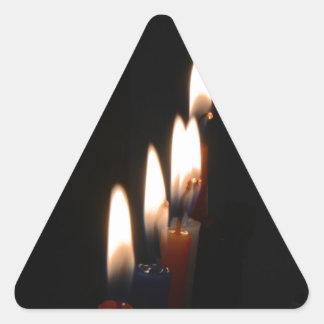 蝋燭ライト 三角形シールステッカー