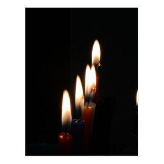 蝋燭ライト 葉書き