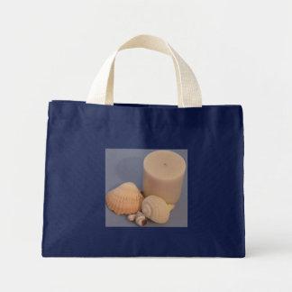 蝋燭及び貝殻のトート ミニトートバッグ