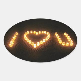 蝋燭愛 卵形シール・ステッカー
