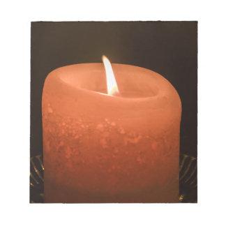 蝋燭 ノートパッド