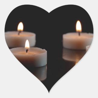 蝋燭 ハートシール
