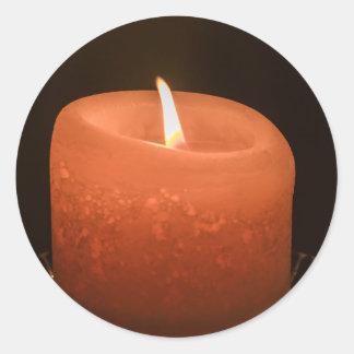 蝋燭 ラウンドシール