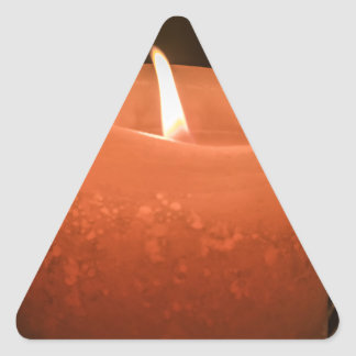 蝋燭 三角形シール