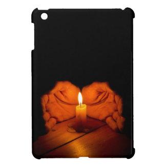 蝋燭、手、炎、木 iPad MINI CASE
