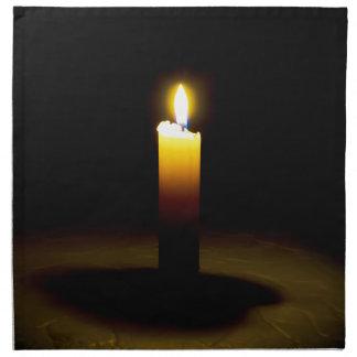 蝋燭、炎 ナプキンクロス