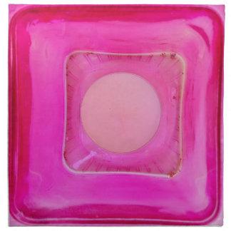 蝋燭、甘いピンク愛キャンドルライト ナプキンクロス