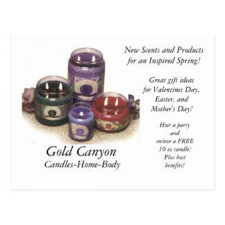 蝋燭、金ゴールド渓谷、蝋燭家体、新しいSc… ポストカード