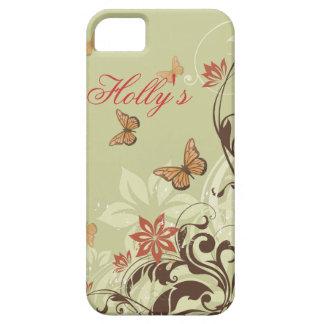 蝶およびつる植物 iPhone SE/5/5s ケース