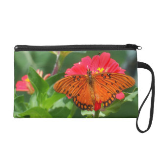 蝶およびピンクの花 リストレット