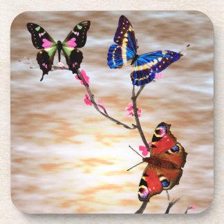 蝶および桜 コースター