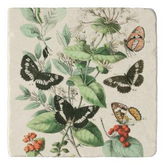 蝶および花の庭 トリベット