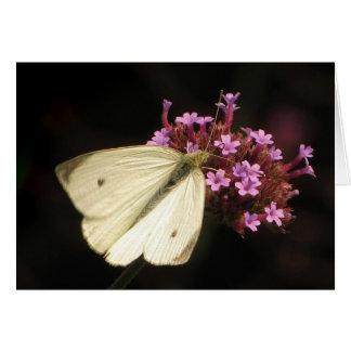 蝶および花イースター カード