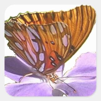 蝶および花 スクエアシール