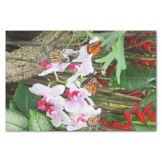 蝶および蘭のティッシュペーパー 薄葉紙