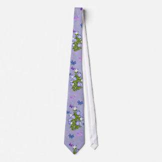 蝶および鐘花 オリジナルネクタイ