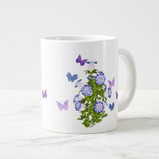 蝶および鐘花 ジャンボコーヒーマグカップ