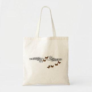 蝶および骨組 トートバッグ