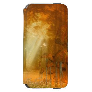 蝶が付いている素晴らしく神秘的な森林 INCIPIO WATSON™ iPhone 5 財布型ケース