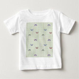 蝶そして竹のカーテン ベビーTシャツ