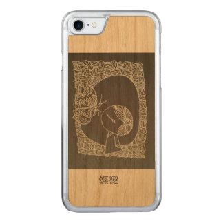 蝶に恋している中国のな女の子 CARVED iPhone 8/7 ケース