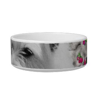 蝶のバイオレット- Westie白い犬 ボウル