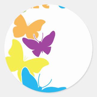 蝶はクールです ラウンドシール