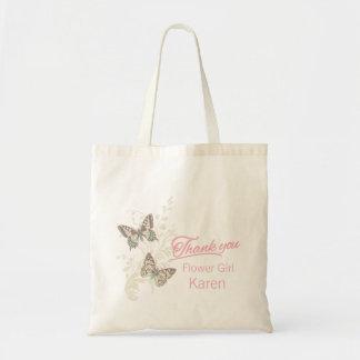 蝶はフラワー・ガールの結婚式の引き出物のバッグ感謝していしています トートバッグ