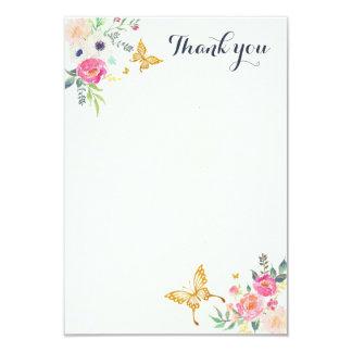 蝶はメッセージカード感謝していしています 8.9 X 12.7 インビテーションカード