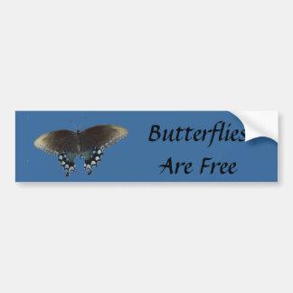 蝶は自由です バンパーステッカー