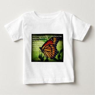 蝶への幼虫 ベビーTシャツ