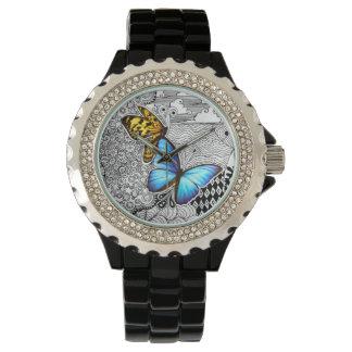 蝶もつれの腕時計 リストウオッチ