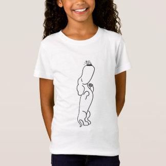蝶を持つダックスフント Tシャツ